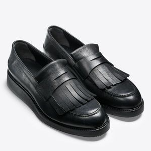 NEW Vince Pollock Fringe Penny Leather Loafers